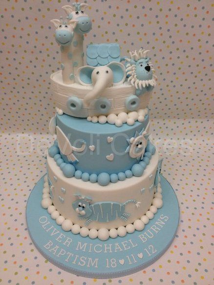 Noahs Ark Christening Cake - by DeVoliCakes @ CakesDecor.com - cake decorating website