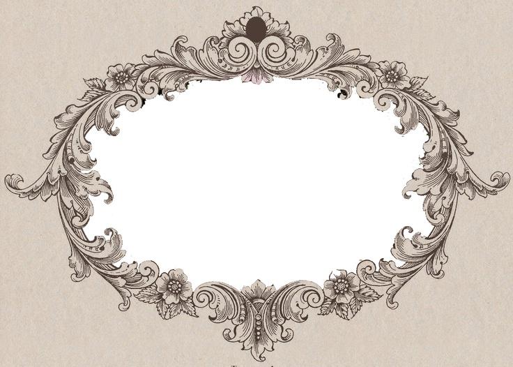 Filigree frame filigree acanthus pinterest frames for Filigree border designs