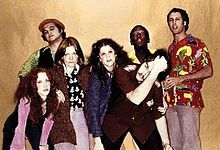 """The original cast in 1975: Laraine Newman, John Belushi, Jane Curtin, Gilda Radner, Dan Aykroyd, Garrett Morris and Chevy Chase. I remember sitting at Mr. Gatti's, with the show on the tv there and my friend said, """"Oh, that's a new show, Saturday Night Live."""" That was in 1975 and here we are in 2012."""