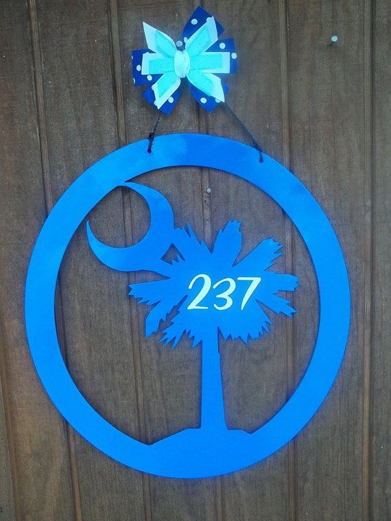 Palmetto Tree W/crescent Moon In Circle. Find This Pin And More On Backyard  Metal Art ...