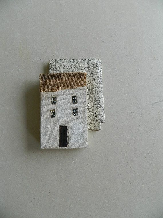 house with brown roof home of cloth and wood by BLUSTUDIOshop