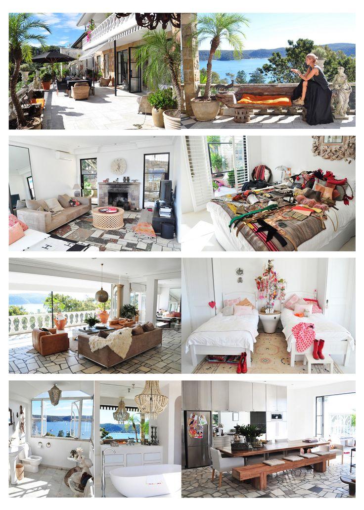 Mountain Home Decor's Spread Of The Week : Heidi Middleton of Sass + Bide in Palm Beach, Australia. Visit our blog! www.mountainhomedecor.wordpress.com