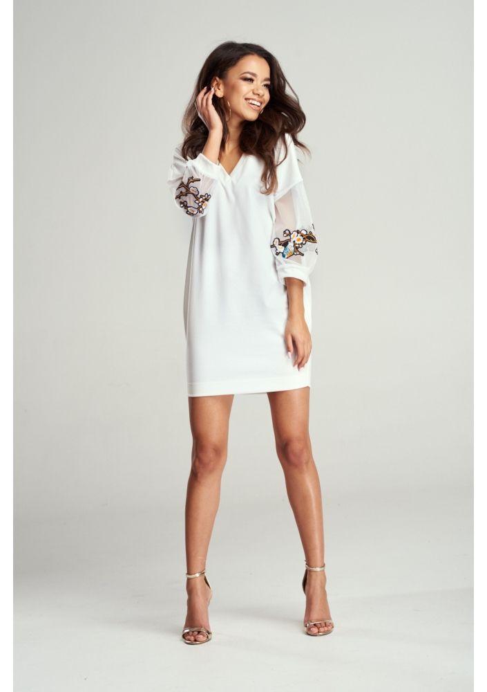 Kopertowa Sukienka W Kwiaty Na Wiosne Dresses Shoulder Dress White Dress