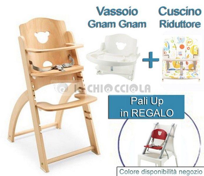 OFFERTA: Seggiolone Pali Pappy Re + Vassoio Gnam Gnam + Cuscino Natural - in REGALO Pali Up SCONTATO a 179 € invece di 238 €!! http://www.lachiocciolababy.it/bambino/natural___in_regalo_pali_up-6020.htm