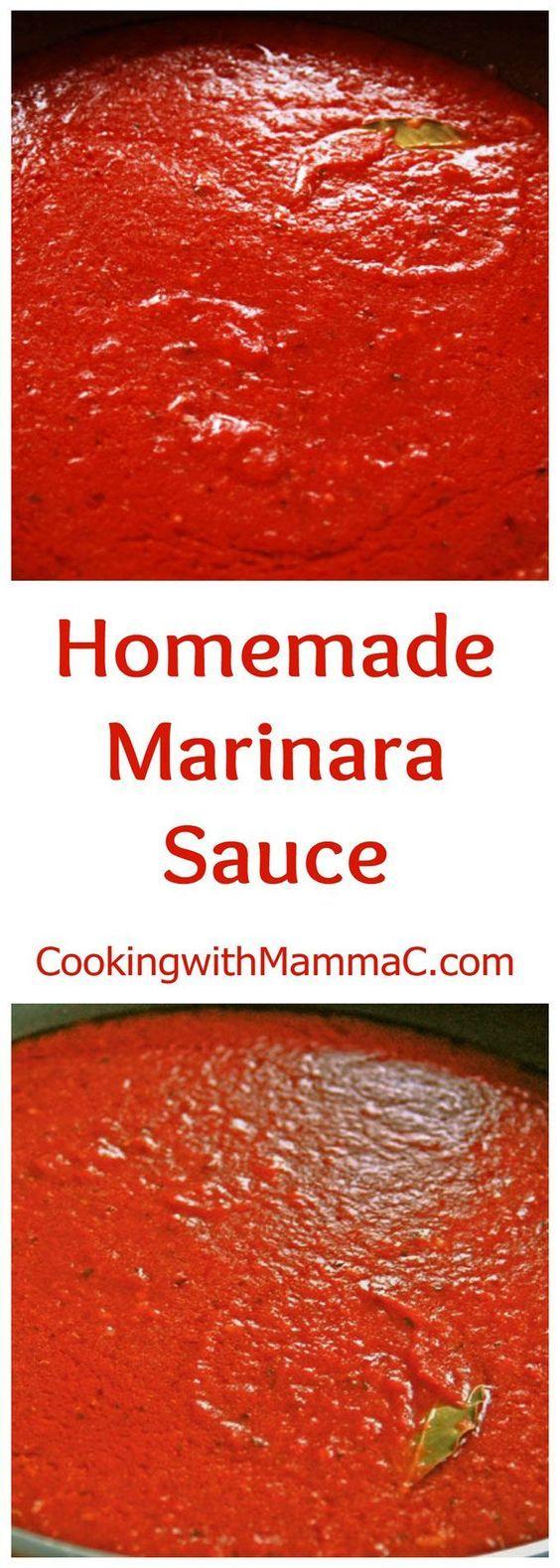 Easy homemade marinara recipe