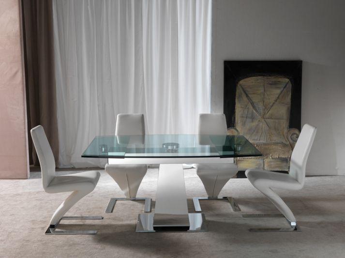 Tavolo enterprise 658 tavoli cristallo allungabili - tavoli