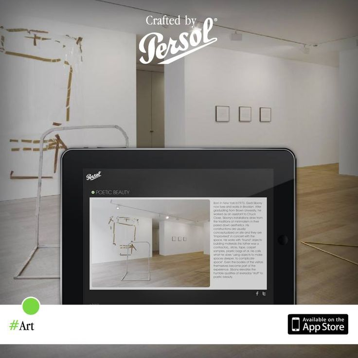 Discover craftsmanship in art on our new iPad app, CraftedxPersol. Free download @ http://pers.sl/Q4wMuS