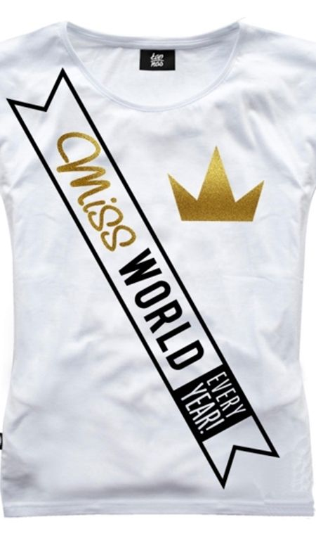 T-SHIRT Z NADRUKIEM MISS WORLD