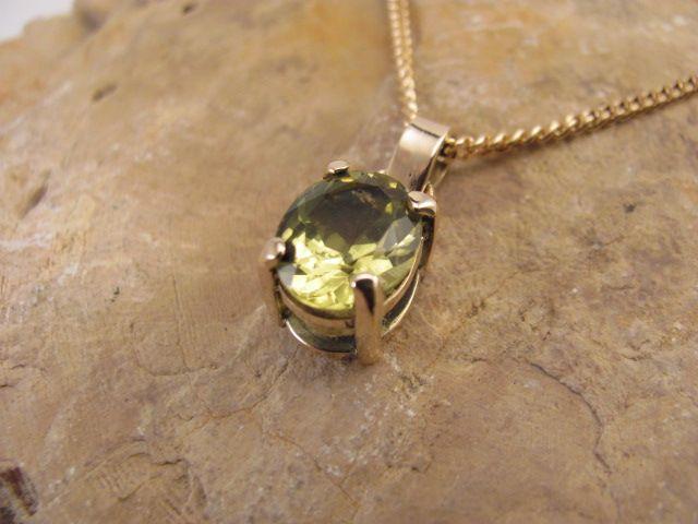 Australian yellow Sapphire set in 9ct Gold