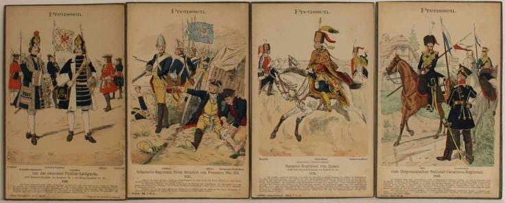 Uniformtafeln von Knötel.   250 kolorierte Tafeln (davon 170 auf Karton aufgezogen). Rathenow, Babe