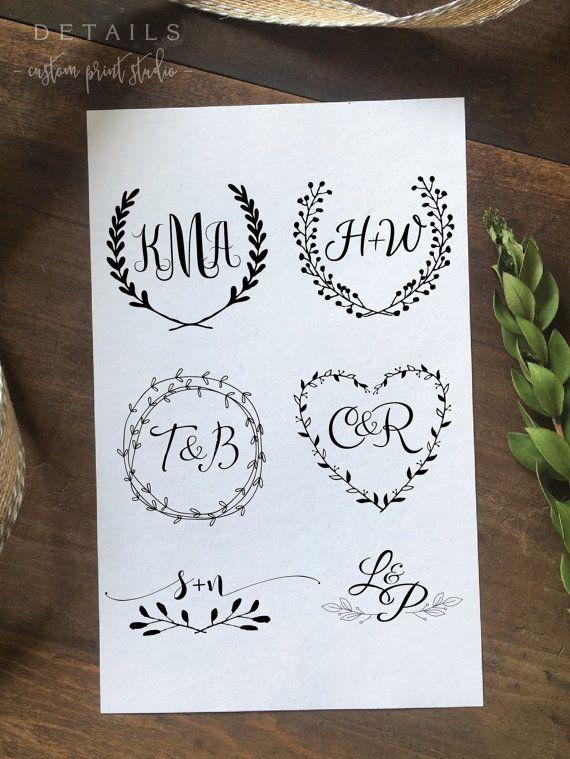 Custom Wedding Logo Design Create Your Own One by DetailsonDemand                                                                                                                                                                                 Mais