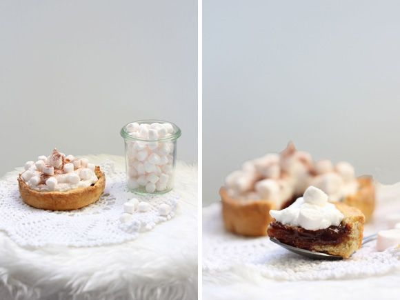 Tarte chocolat chaud et chamallow / Hot chocolate and marshmallow pie