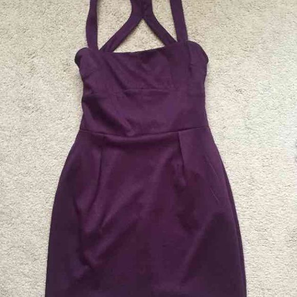 Plum dress trades Plum dress with pockets. zippers down back silence + noise Dresses