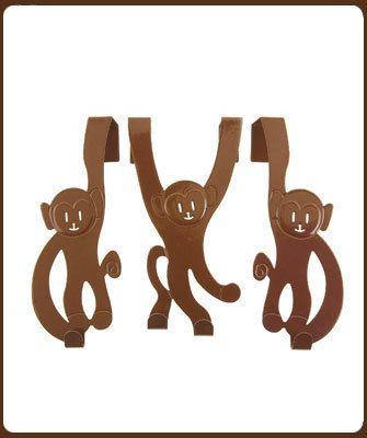 Klein Design Hoorn   Present time:Drie vrolijke kapstok aapjes  11.00