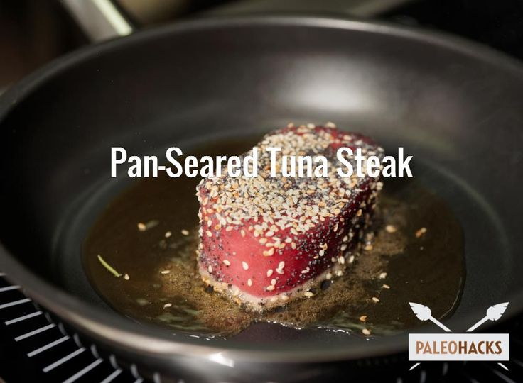 Cooked just right, my paleo pan seared tuna steak offers a double whammy of tender flakiness and firm meatiness with a taste that is just out of this world.