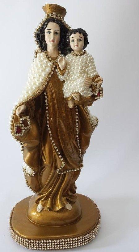 Nossa Senhora do Carmo com pérolas - 30 cm