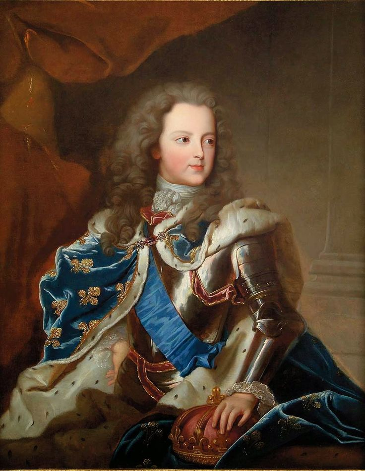 """""""Portrait of a Young Louis XV, King of France and Navarre"""" by Charles Sevin De La Pénaye (1721)"""