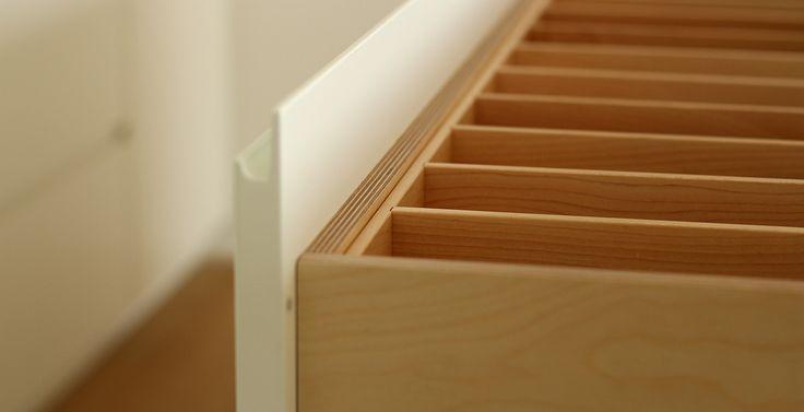 Besteckschublade aus Holz vom Schreiner