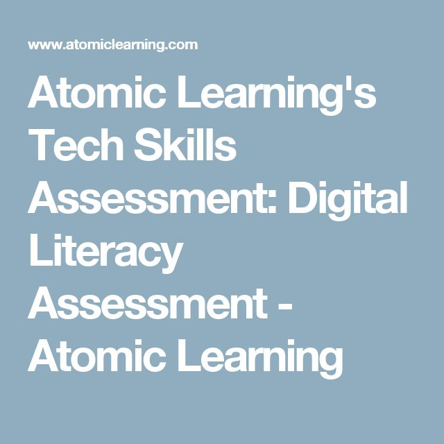 58 best ipad lesson plans images on pinterest ipads teaching atomic learnings tech skills assessment digital literacy assessment atomic learning fandeluxe Images