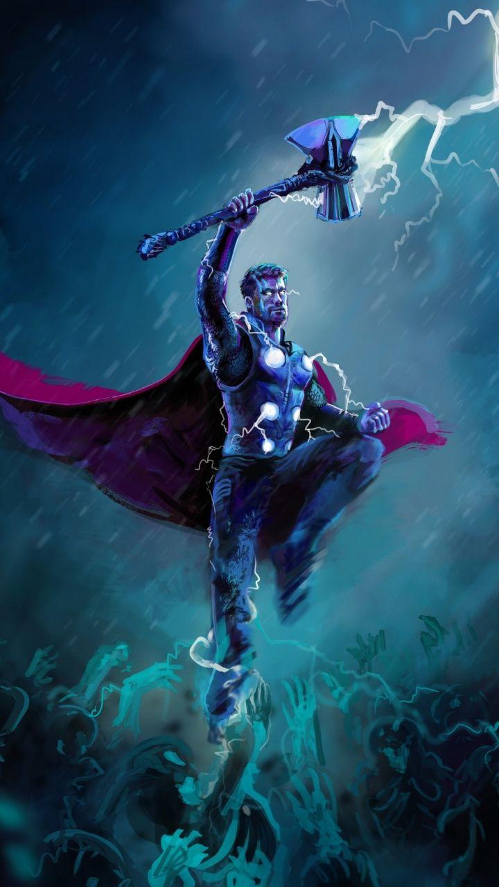Thor Thunder Storm Artwork 720x1280 Wallpaper Thor Wallpaper Marvel Thor Thor Artwork