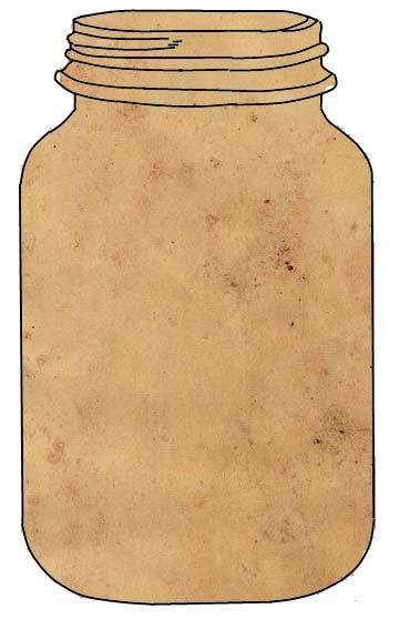 Tea Stained Jar : Free printable image of vintage style ephemera for DIY paper craft projects like cards, tags or labeling.    jpg 360×558 pixels