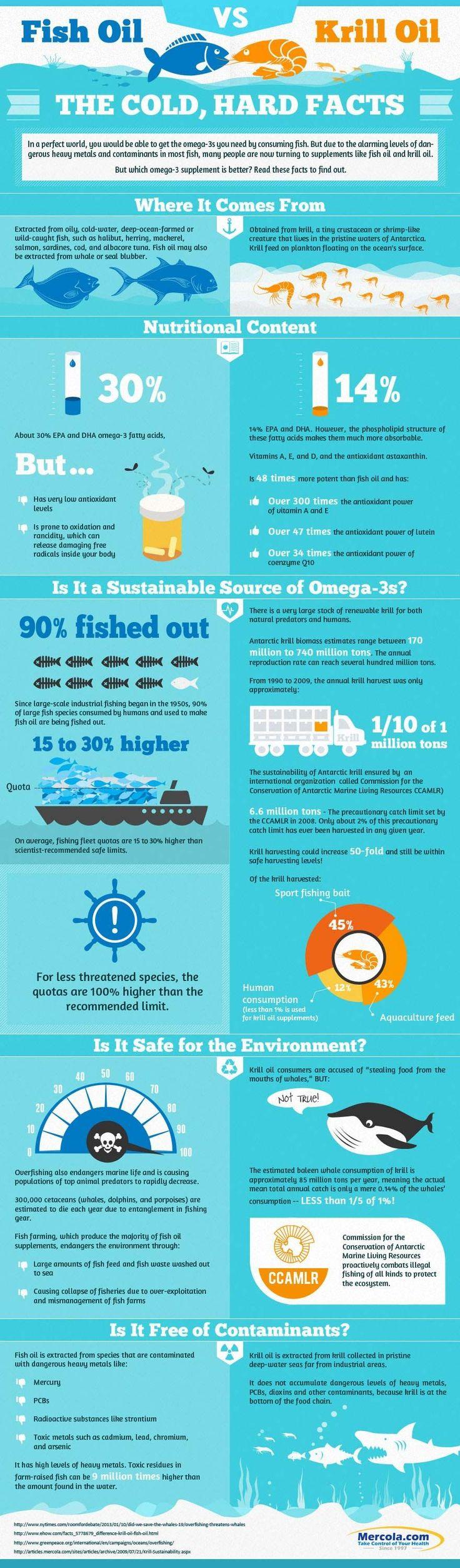 krill oil vs fish oil infographics