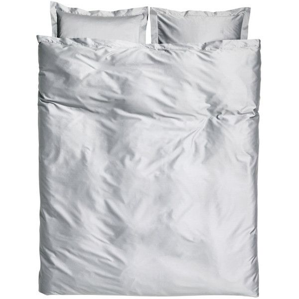 Cotton Satin Duvet Cover Set $129 ($129) ❤ liked on Polyvore featuring home, bed & bath, bedding, duvet covers, white cotton bedding, satin bedding, king size duvet sets, white duvet set and king duvet cover sets