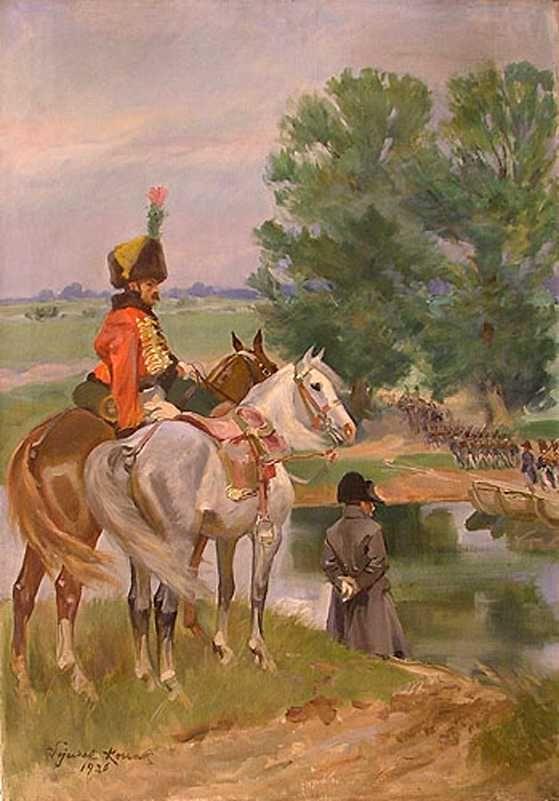 Napoleon on the banks of Neman River - Wojciech Kossak
