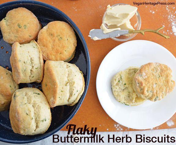 #Vegan Buttermilk Herb Biscuits from Everyday Vegan Eats by Zsu Dever