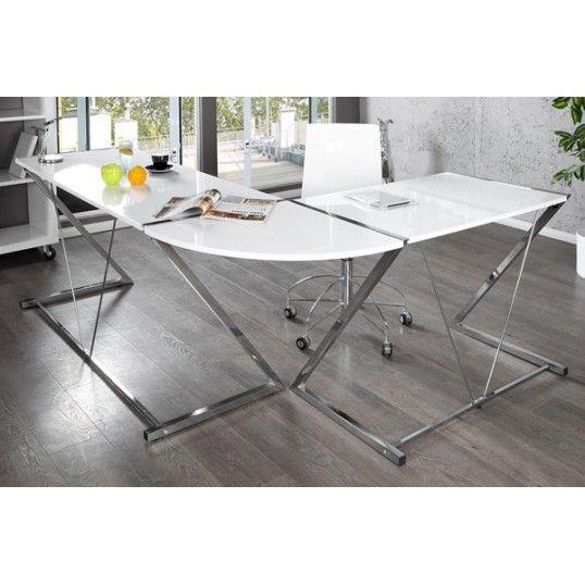 chrome office desk. loft design corner office desk white high gloss chrome frame l