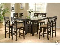 Counter Height Dining Table and Chairs with Lazy Susan