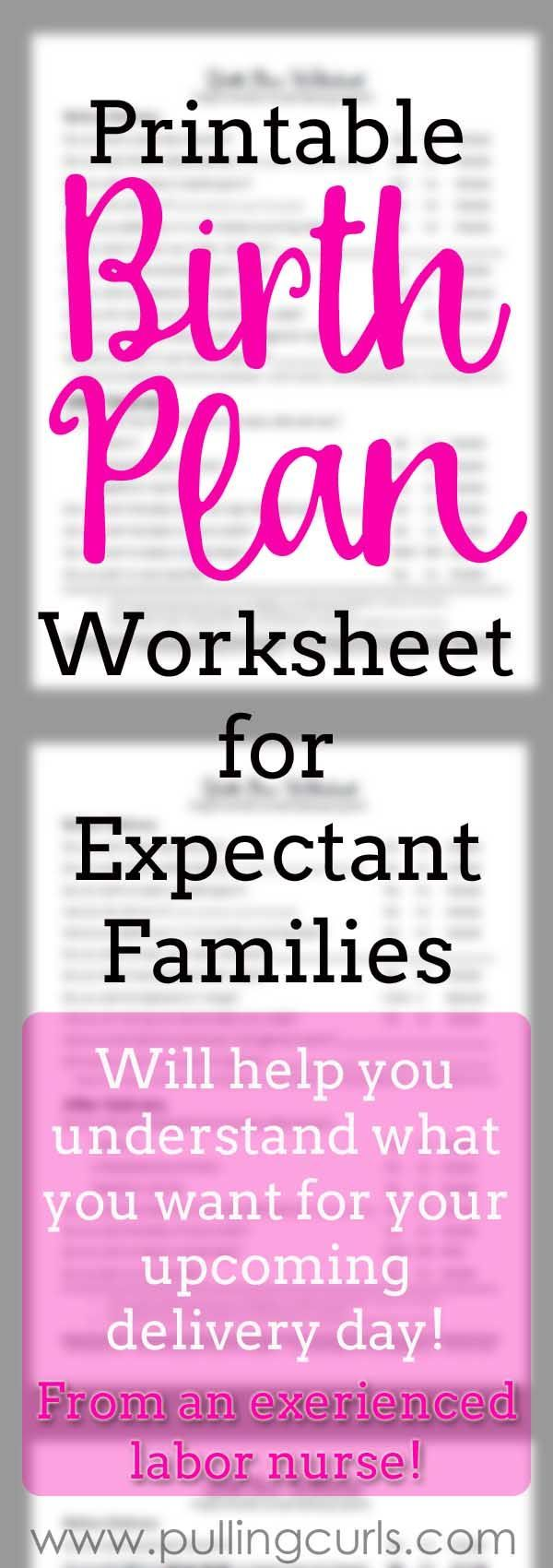 Worksheets Birth Plan Worksheet best 25 birth plans ideas on pinterest birthing plan natural worksheet flexible for success