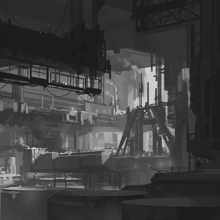«Industrial bit - demo on environment design for value structure and composition. Can't wait for the spring term @brainstormschool to start up!…»
