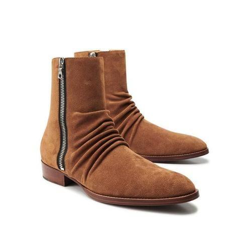 Chelsea Boots Vintage Leder Stiefeletten Stiefel
