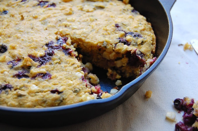 palate/palette/plate: Blueberry Cornbread with Basil & Lime