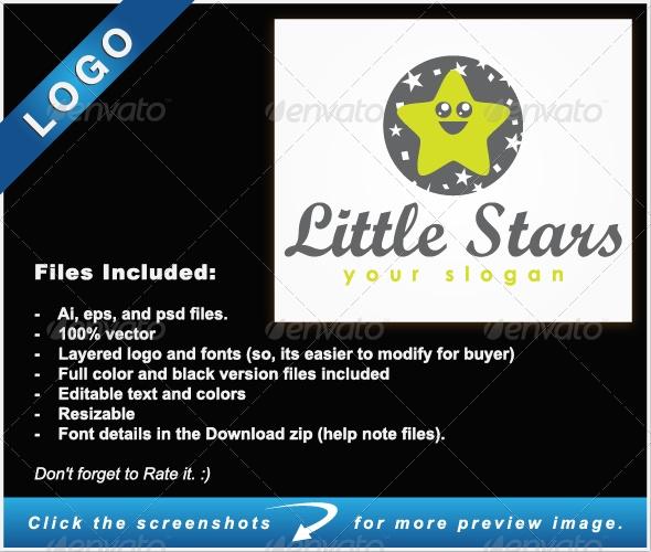 Little Stars Logo - Objects Logo Templates
