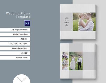 "Check out new work on my @Behance portfolio: ""Wedding Album Template""…"