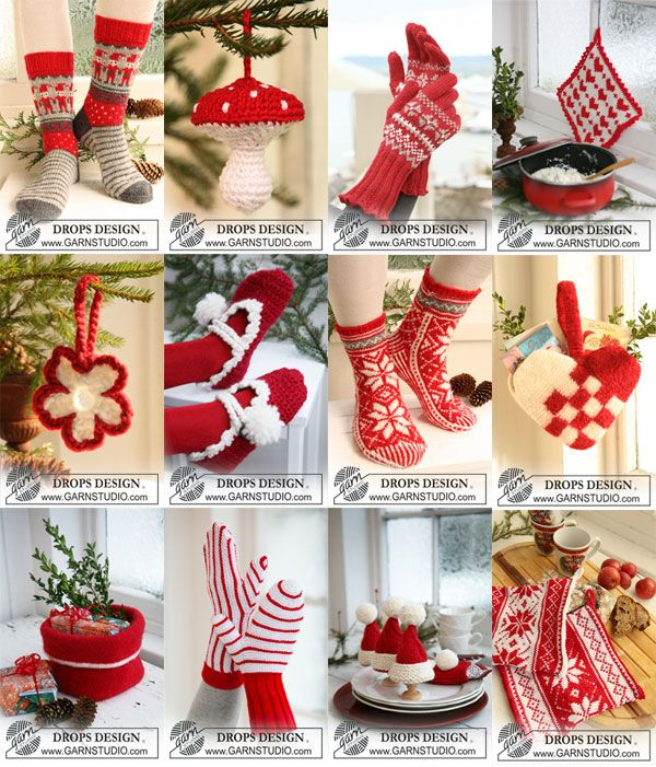 Over a hundred free crochet, knit patterns for Christmas