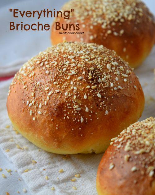 Everything Brioche Burger Buns | Recipe | Buns, No knead bread and ...