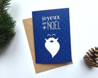 Carte de Noël - carte de voeux Petipeu vendue avec son enveloppe kraft.  Pour plus d'infos : www.petipeu.etsy.com  Merci pour le repin :-)  #joliecarte #cartenoel