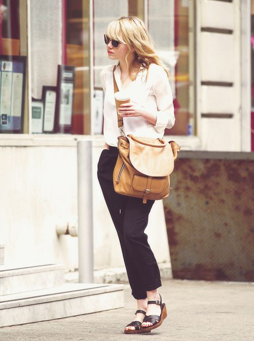 Emma Stone   street style   Garb   Pinterest