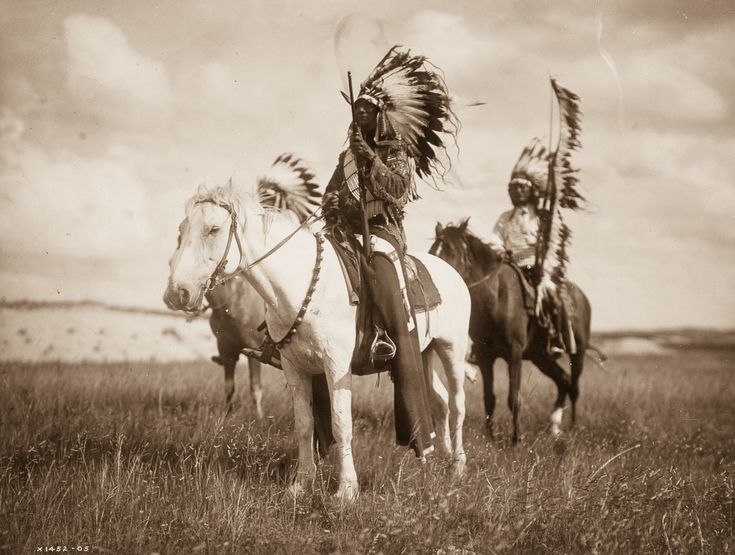 1905: Sioux chiefs // Edward S. Curtis spent more than 20 years documenting over 80 tribes across North America.