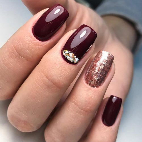 45 Newest Burgundy Nails Designs You Should Definitely Try In 2019 ...