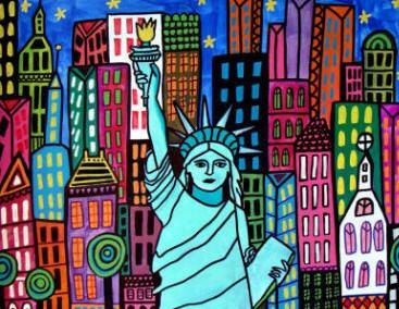 Statue of Liberty Art New York City Print by HeatherGallerArt, $24.00