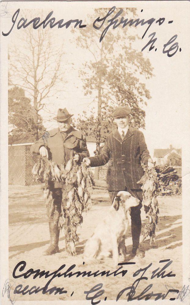 RP Bird Hunters , JACKSON SPRINGS , NC, 1910s