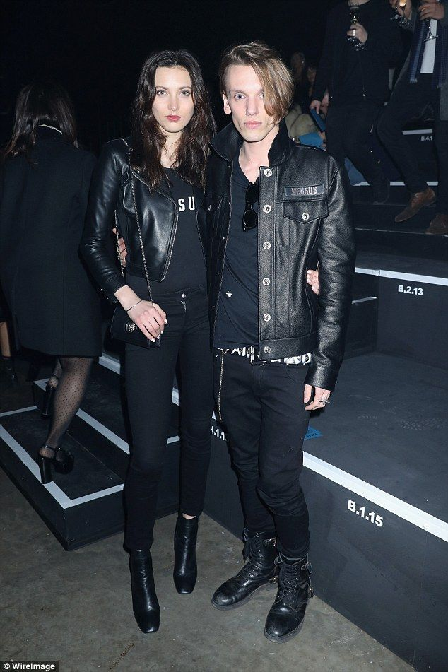Jamie Campbell Bower and girlfriend Matilda Lowther match in all-black #dailymail
