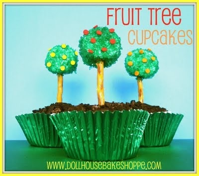Earth Day cupcakes: Baking Shoppe, Cupcake Rosa-Choqu, Dollhouses Baking, Trees Cupcake, Food Crafts, Fruit Trees, Earth Day Cupcake, Favorite Recipe, Gardens Parties