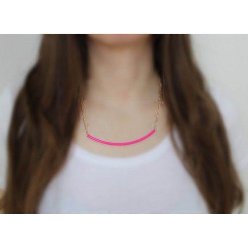 Náhrdelník Neon Detail Pink | Womanology.sk