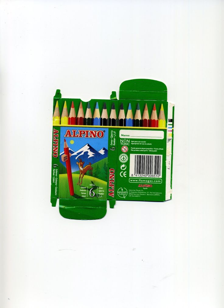 Cajitas de lápices Alpinos. Muchos más imprimibles en mi blog. http://minilunaminiaturas.blogspot.com.es/p/imprimibles.html