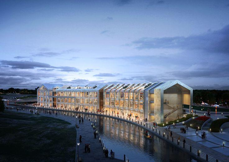 "C4-9BL, No.1 Project ""LAVENICHE MARCH AVENUE : Culture Theme Canel & Street Mall CG Perspective View / ""라베니체 마치에비뉴"" 첫 번째 프로젝트 C4-9블록 수변상업시설 투시도"